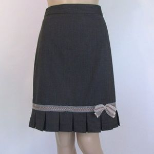 Banana Republic 100% Wool Gray Pleated Skirt
